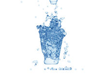 Water forming shape of glass Royalty Free Stock Photography
