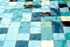 Water forms. In swimming pool royalty free stock image
