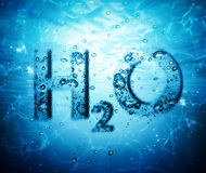 Water formula. In blue underwater royalty free stock photography