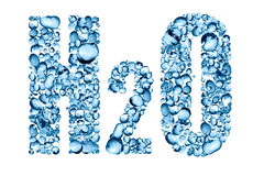 Water Formula H2O Stock Photography