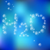 Water Formula Made with Air Bubbles Royalty Free Stock Photography