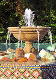 Water fountain. An outdoor park water fountain, on a sunny day Royalty Free Stock Photography