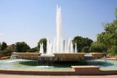 Water fountain background. Beautiful water fountain on big pool Stock Photos