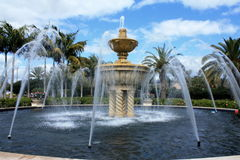 Water Fountain. In a tropical setting Stock Photography