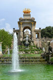 Water Fountain by Antoni Gaudi in Park Guell, Barcelona, Spain Stock Photo