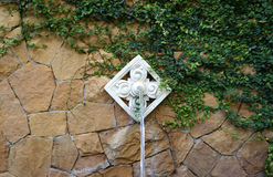 Water fountain with asian ornate water point Royalty Free Stock Photo