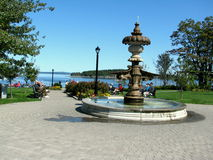 Water fountain in Bar Harbor USA. Bar Harbor is a town on Mount Desert Island in Hancock County, Maine, United States Stock Photos