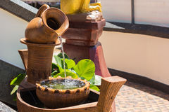Water Fountain. A beautiful pot water fountain Stock Image