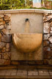 Water Fountain. Brown Water fountain with brown stone Royalty Free Stock Images