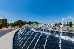 Water Fountain in Carrol Creek Promenade in Frederick, Maryland Stock Photos