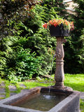 Water fountain in Chamonix, France Stock Images