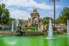 Water fountain, Ciutadella parc, Barcelona Royalty Free Stock Photography