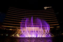 Water fountain. Water display in front of a casino hotel in Macau Stock Photos