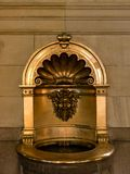 Water fountain in entrance hall of Town Hall Hamburg. stock images
