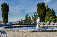 Water fountain feature in a garden Stock Photography