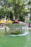 Water Fountain at Feira da Praca General Osorio. Curitiba - PR, Brazil - December 15, 2018: Water fountain at the open air fair at Feira da Praca General Osorio royalty free stock photography