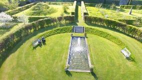 Walled Garden in Ireland. Walled Garden at Glenarm County Antrim in Northern  Ireland stock photo