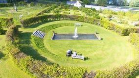 Walled Garden in Ireland. Walled Garden at Glenarm County Antrim in Northern  Ireland stock image