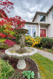 Water Fountain on Frontyard of Home Royalty Free Stock Image