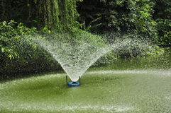Water fountain in garden Stock Photos