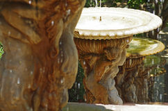 Water fountain in a garden Stock Image