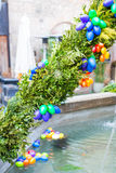 Water fountain in Germany, decorated with traditional Easter egg royalty free stock photography