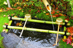Water fountain in Japan temple Royalty Free Stock Image
