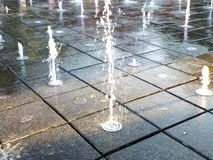 Water fountain jet Royalty Free Stock Photography