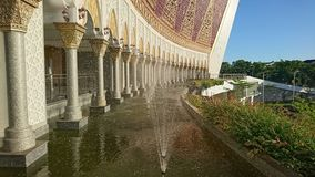 water fountain in masque highway west sumatra stock images