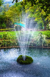 Water fountain at matlock bath. Water feature in the Derbyshire countryside Royalty Free Stock Images