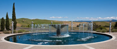 Water Fountain at a Napa Valley Winery. Water fountain at a winery in Napa Valley, California Royalty Free Stock Images