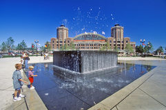 Water Fountain at Navy Pier, Chicago, Illinois Royalty Free Stock Photos