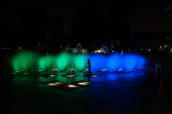 Water fountain at night Royalty Free Stock Image