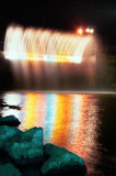 Water fountain at night Stock Photography