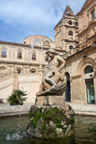 Water fountain, Noto, Sicily, Italy stock images