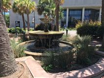 Water fountain outside the Court House in Columbia, South Carolina.  royalty free stock photo