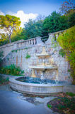 Water fountain. In a park in Barcelona royalty free stock image