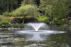 Water fountain in park Stock Image