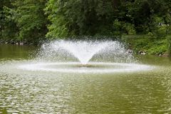 Water fountain in the park Stock Photo