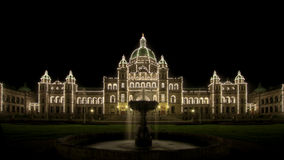 Water Fountain Parliament Buildings Victoria BC Stock Photo