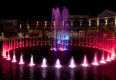 Water Fountain in Pigeon Forge, Tennessee Stock Image
