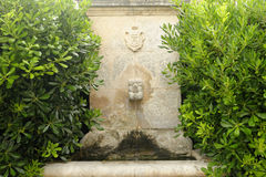 Water fountain in provence Royalty Free Stock Image
