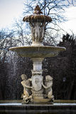 Water fountain in Retiro Park (Parque del Retiro) in Madrid Stock Image