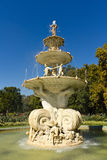 Water fountain with sculpture horizontal Royalty Free Stock Image