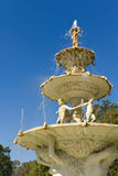 Water fountain with sculpture horizontal Royalty Free Stock Photography