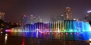 Water fountain show at KLCC park. Kuala Lumpur. Malaysia Stock Photography