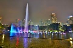 Water fountain show at KLCC park. Kuala Lumpur. Malaysia Royalty Free Stock Image