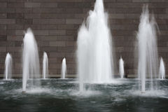 Water fountain in slow motion Royalty Free Stock Photography