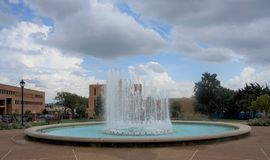 Water Fountain at Saint Louis University Entrance, St. Louis Missouri. royalty free stock photography