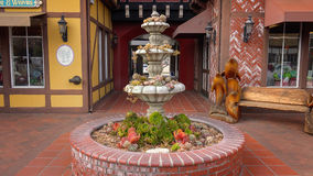 Water Fountain Turned into Garden Due to Drought Royalty Free Stock Photo